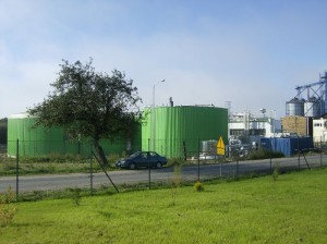 widok na teren biogazowni